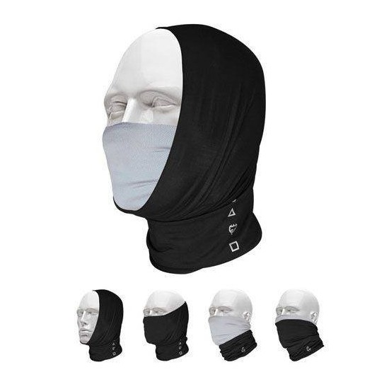 Pañuelo Bandana Multifuncional T-One Pro-Mask Negro Gris