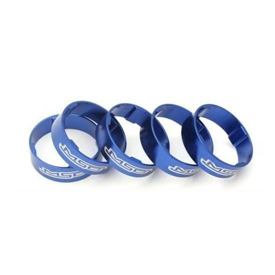 Espaciadores de Direccion Msc Ultralight Tetra Aluminio 10 mms x 5 unds Azules