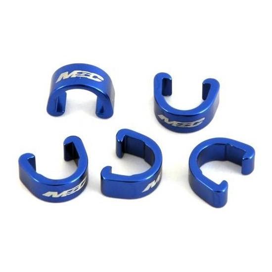Clips Sujeta Cables al Cuadro Aluminio Azules x 5 unds