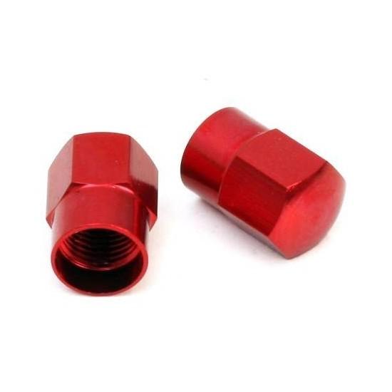Tapones para Válvula Schrader Aluminio Rojos