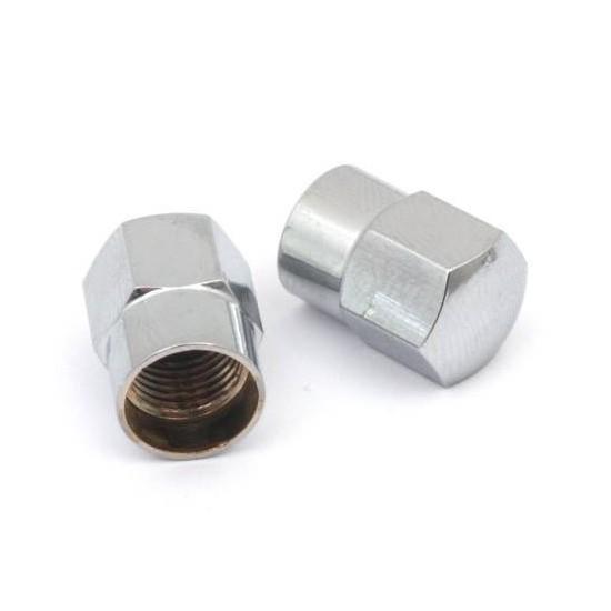 Tapones para Válvula Schrader Aluminio Plata