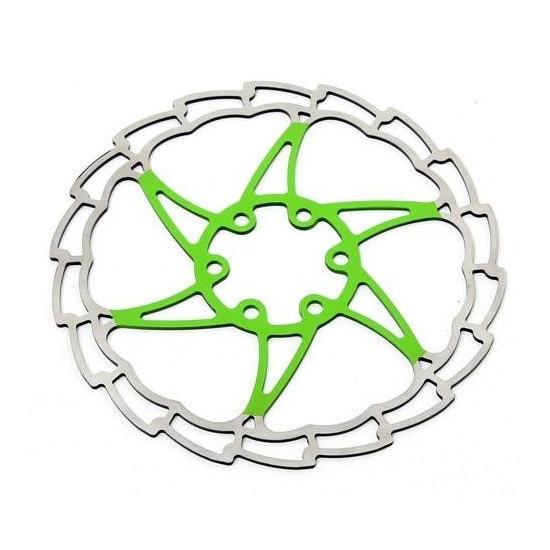 Disco Rotor Msc Ultralight Verde 6 Tornillos 180 mms