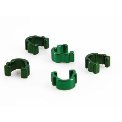 Clips Sujeta Cables al Cuadro Aluminio Verdes x 5 unds