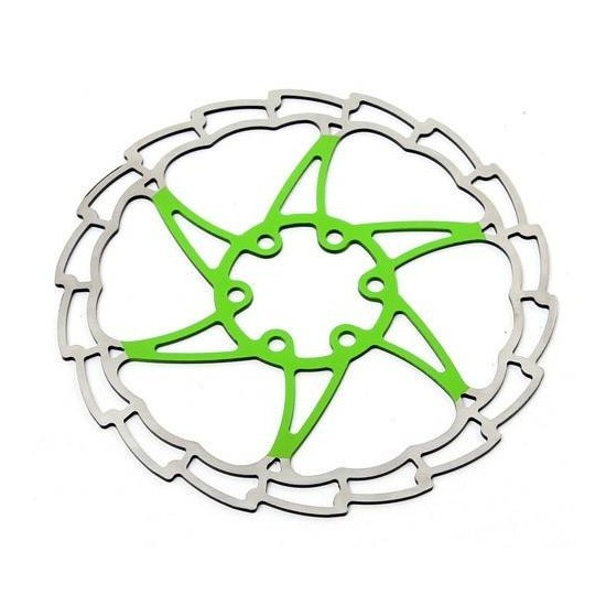 Disco Rotor Msc Ultralight Verde 6 Tornillos 180 mms