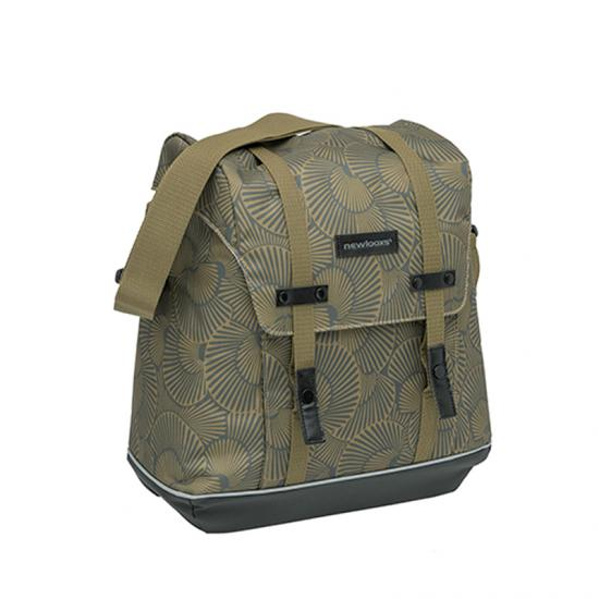 Alforja New Looxs Alba 34l Impermeable Poliester Bronce Con Reflectantes (32x35x16 Cm) - Imagen 1