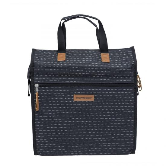 Alforja New Looxs Lilly Nomi 18l Impermeable Poliester Negro Logo Reflectante (35x32x16 Cm) - Imagen 1