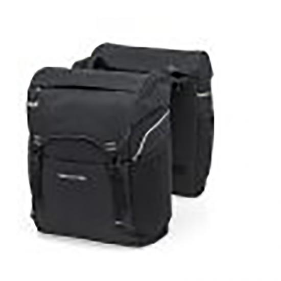 Alforjas New Looxs Sports 32l Impermeable Poliester Negro Con Reflectantes  (39x29x16 Cm) - Imagen 1