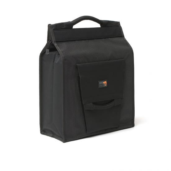 Alforja New Looxs Daily Shopper 24l Impermeable Poliester Negro Con Reflectantes (35x40x16 Cm) - Imagen 1